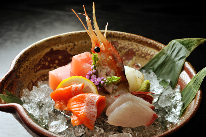 Fresh ingredients delivered directly from the Sea of Japan.
